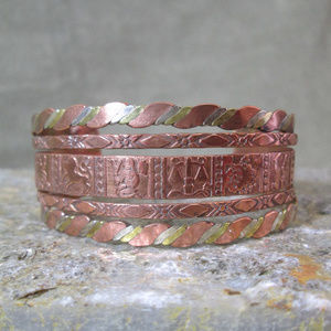 Zodiac Arts & Crafts Cuff Bracelet Mixed Metals